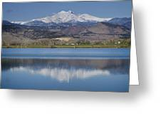 Twin Peaks Mccall Reservoir Reflection Greeting Card by James BO  Insogna