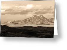 Twin Peaks Sepia Panorama Greeting Card