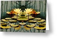 Twin Pond Lillies Greeting Card