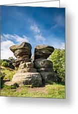 Twin Rocks At Brimham Greeting Card