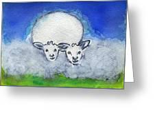 Twin Sheep Greeting Card