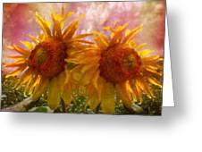 Twin Sunflowers Greeting Card