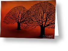 Twin Trees Greeting Card