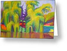 Twin Willows Chicago Botanical Gardens Greeting Card