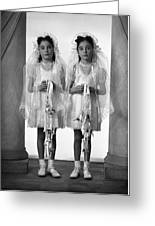 Twins First Communion 2 Greeting Card