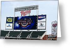 Twins Home Opener 2010 Greeting Card by Ron Read