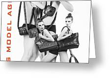 Twins Model Agency Greeting Card by ISAW Company