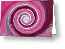 Twirl Pink  Greeting Card