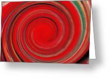 Twirl Red-0951 Greeting Card