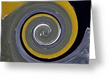 Twirl Yellow  Greeting Card