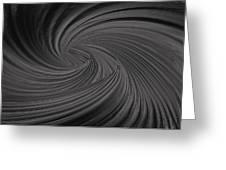 Twist To Black  - Black And Gray Art Greeting Card