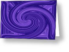 Twisted Blues Greeting Card