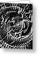 Twisted Gears Abstract Greeting Card