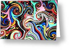 Twisted Lines Greeting Card