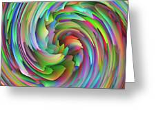 Twisted Rainbow 2 Greeting Card