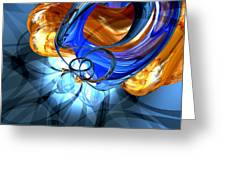 Twisted Spiral Abstract Greeting Card