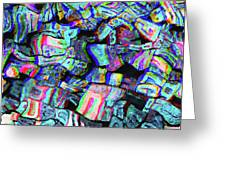 Twisted Text And Colors Greeting Card