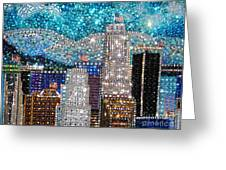 Los Angeles. Rhinestone Mosaic Beadwork Mix Greeting Card