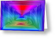 Twister In A Prism Greeting Card
