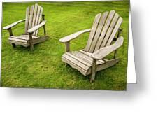 Two Adirondack Chairs Greeting Card
