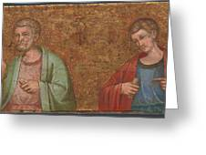 Two Apostles   Fragment Of Predella   Greeting Card