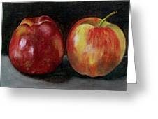 Two Apples Greeting Card