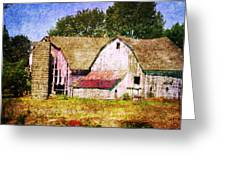 Two Barns And A Silo Greeting Card