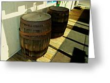 Two Barrels Greeting Card