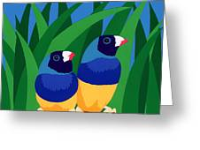 Two Birds Sharing A Branch Greeting Card