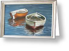 Two Boats Greeting Card