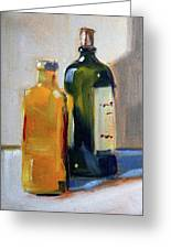 Two Bottles Greeting Card