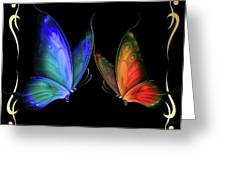 Two Butterflys -4 Greeting Card