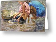 Two By The Riverside Greeting Card