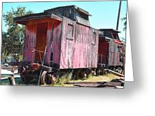 Two Caboose Greeting Card