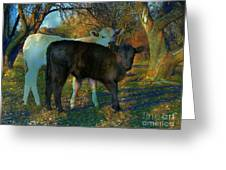 Two Calfs Greeting Card