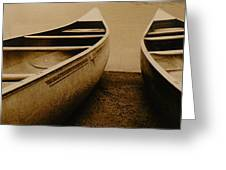 Two Canoes Greeting Card