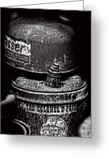 Two Cans - Bw Greeting Card