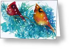 Two Cardinals Greeting Card