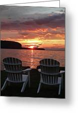 Two Chair Sunset Greeting Card