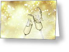 Toast Champagne Glasses Greeting Card