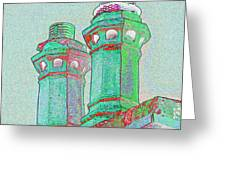 Two Chimney Pots. Greeting Card