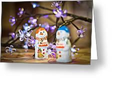 Two Chocolate Snowmen 2 Greeting Card