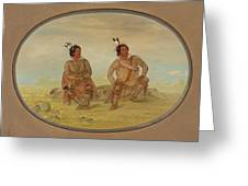 Two Choctaw Indians Greeting Card