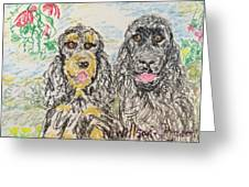 Two Cockers Greeting Card