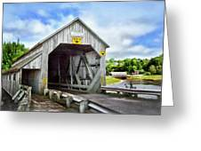 Two Covered Bridges Of St. Martins Greeting Card