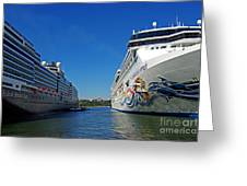 Two Cruise Ships Greeting Card
