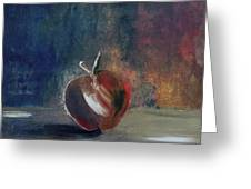 Two Dimensional Apple Greeting Card