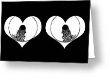 Two Dreamy Eyed Hearts Greeting Card