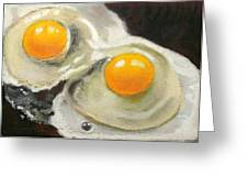 Two Eggs  Greeting Card
