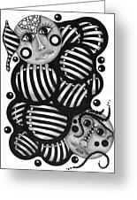 Two Faces Greeting Card